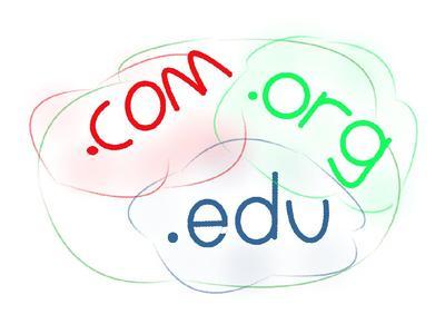 .com .org .edu